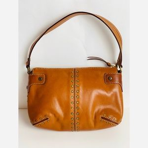MICHAEL KORS TAN LEATHER BAG W/STUDS